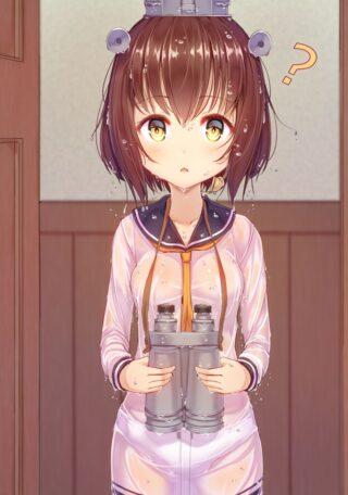 【2次】濡れたせいでパンティとかが透けて見える女の子のドスケベ画像