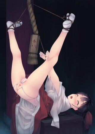 【2次】巫女さん姿の可愛い女の子のスケベな姿を堪能できるエロ画像
