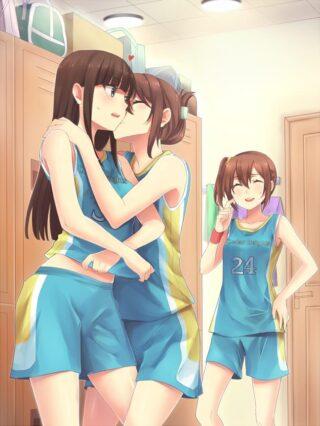 【2次】レズの女の子同士がイチャイチャしたりエッチなことしてるエロ画像がこちら