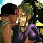 【2次】ネットリとしてスケベな濃厚キスをしている女の子達のエロ画像